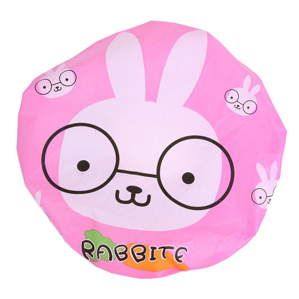 Cute Cartoon Bathing Cap Waterproof PVC Bathing Shower Hair Cap Animal Series Bathroom Products - PINK