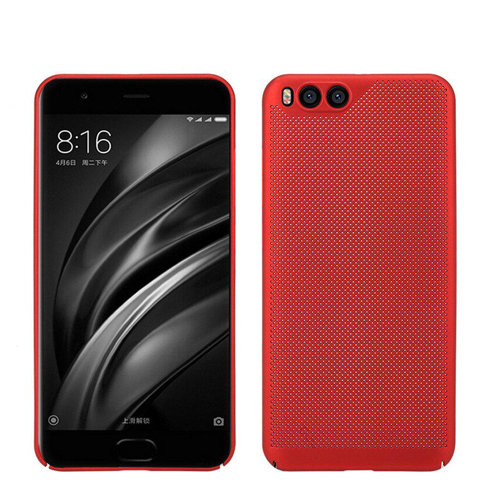 Cover Case for Xiaomi 6 Luxury Heat Dissipation Ultra Thin Matte hard PC - RED