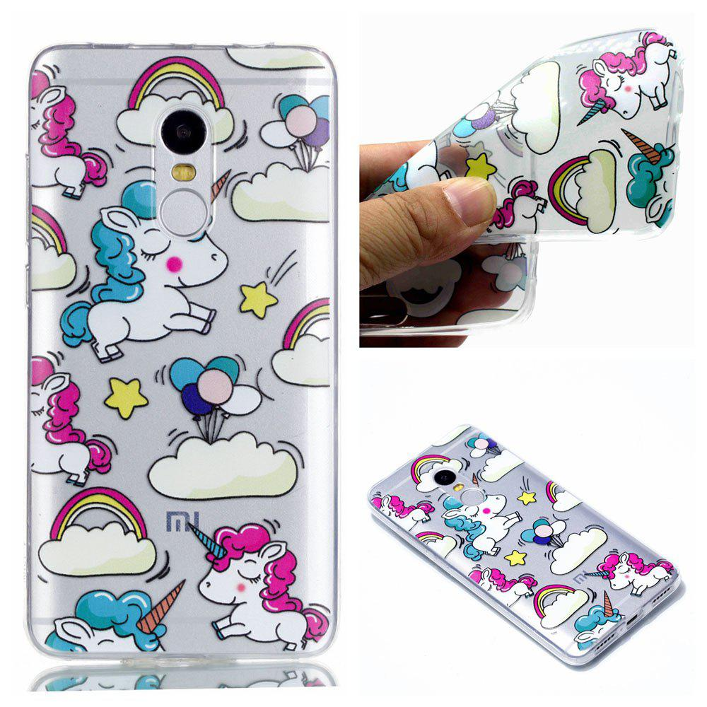 TPU Case for Xiaomi Redmi Note 4 / 4X Unicorn Pattern Soft Back Cover - COLORFUL