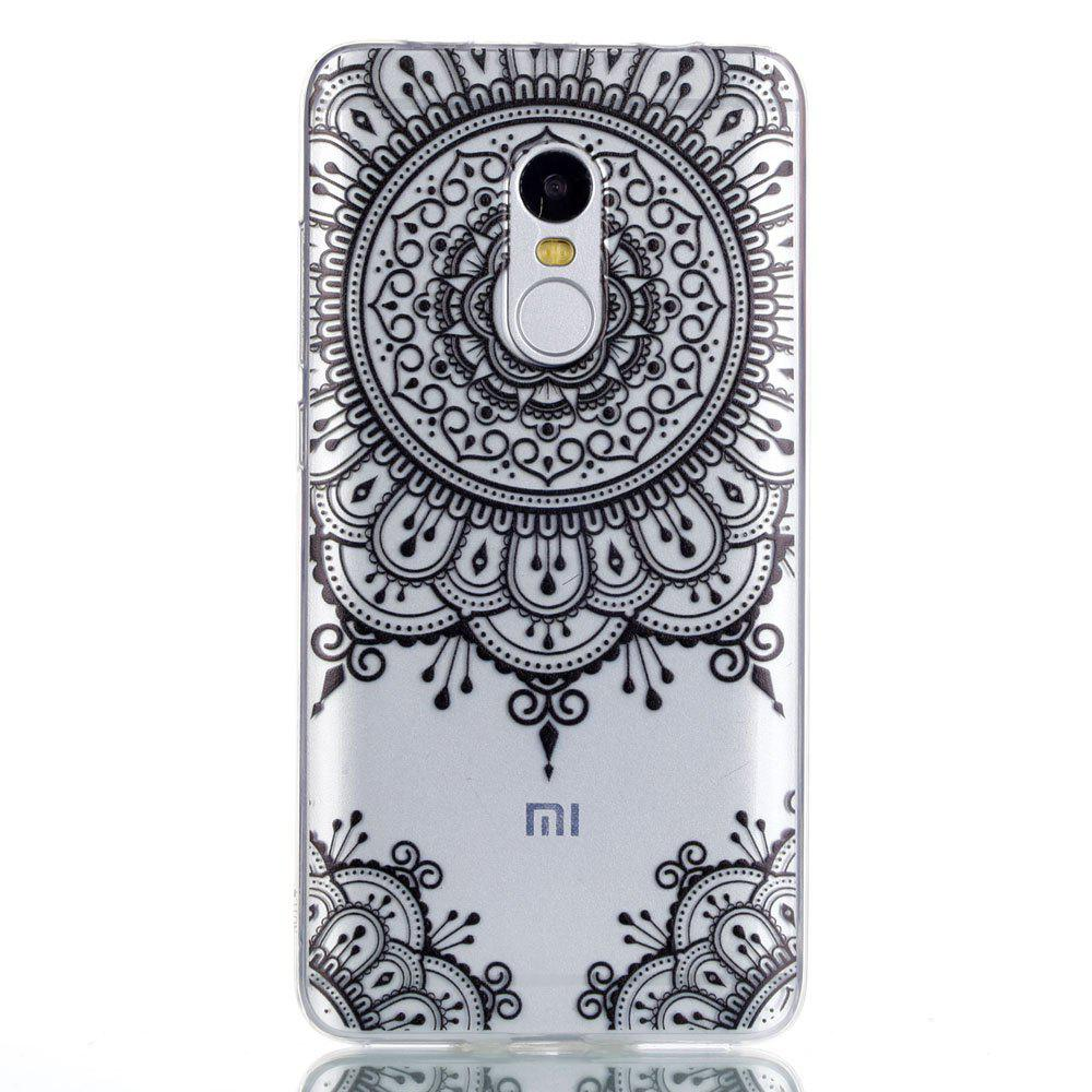 TPU Case for Xiaomi Redmi Note 4 / 4X Black Totem Pattern Soft Back Cover - BLACK