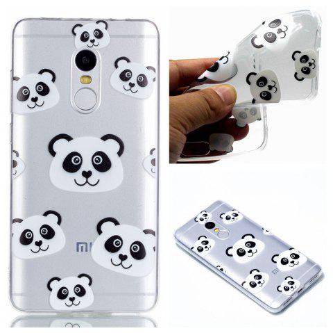TPU Case for Xiaomi Redmi Note 4 / 4X Panda Pattern Soft Back Cover - BLACK