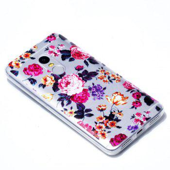 TPU Case for Xiaomi Redmi Note 4 / 4X Red Flowers Pattern Soft Back Cover - RED