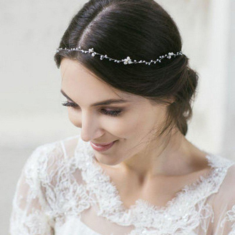 Full Crystal Headband Hair Jewelry for Wedding Women Party - WHITE