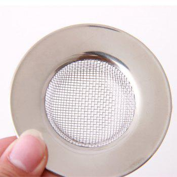 Stainless Steel Bathtub Hair Catcher Stopper Shower Drain Hole Filter Trap Metal Wire Sink Strainer Kitchen Accessories - SILVER