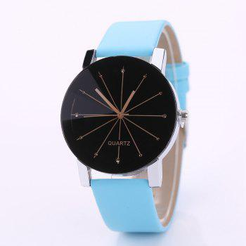 PU Belt Casual Couple Watches - GREEN S