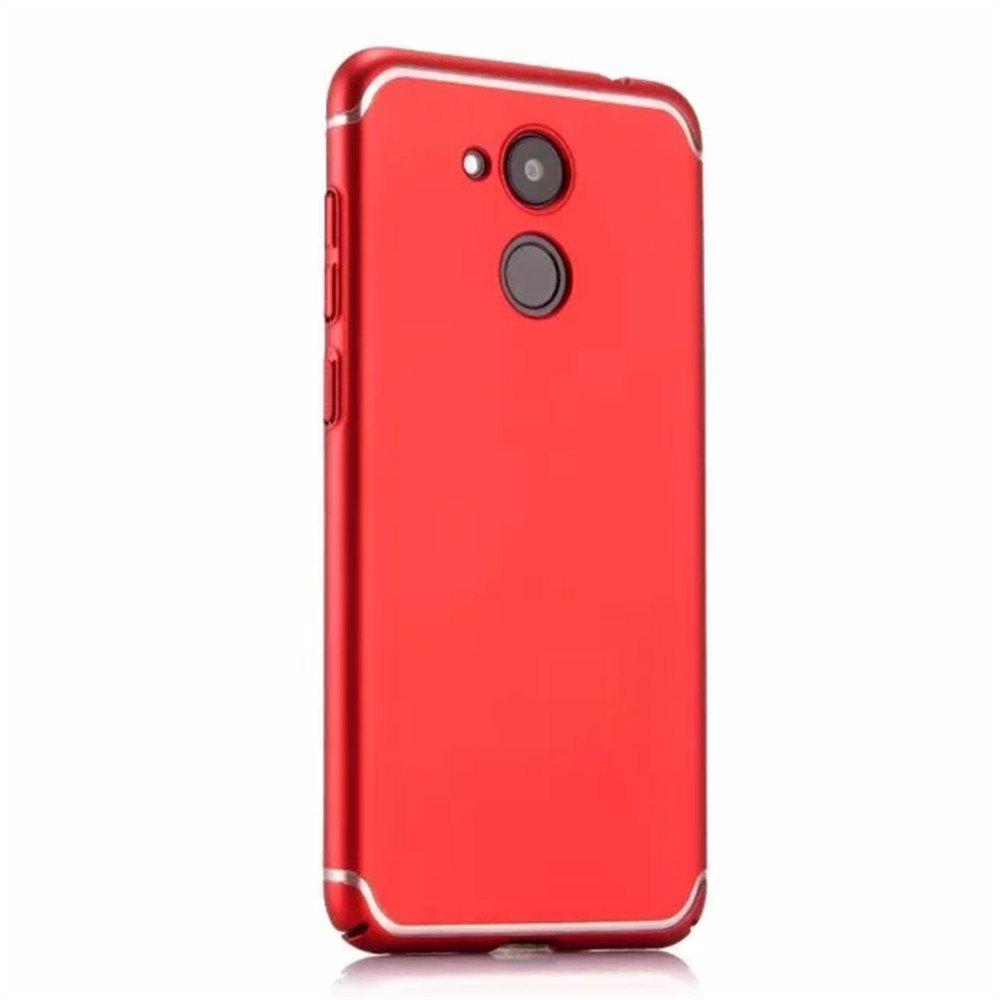 Cover Case for Huawei Honor V9 New Turnkey Ultra-thin Injection with PC Following Art Line - RED
