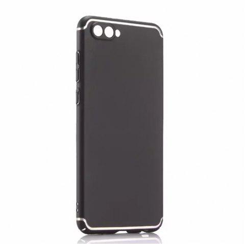 Cover Case for Huawei Honor V10 New Turnkey Ultra-thin Injection with PC Following Art Line - BLACK