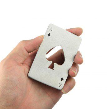 1PC Poker Shape Bottle Opener - SILVER