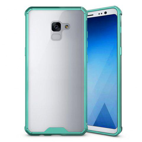 PC+TPU Phone Case for Samsung Galaxy A7 2018/ A8 Plus 2018 Shock-Proof Protection Cover Case - GREEN