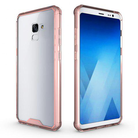 PC+TPU Phone Case for Samsung Galaxy A7 2018/ A8 Plus 2018 Shock-Proof Protection Cover Case - PINK