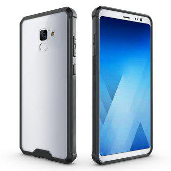 PC+TPU Phone Case for Samsung Galaxy A7 2018/ A8 Plus 2018 Shock-Proof Protection Cover Case - BLACK