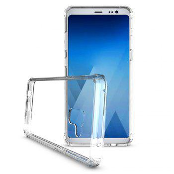 PC+TPU Phone Case for Samsung Galaxy A7 2018/ A8 Plus 2018 Shock-Proof Protection Cover Case - TRANSPARENT