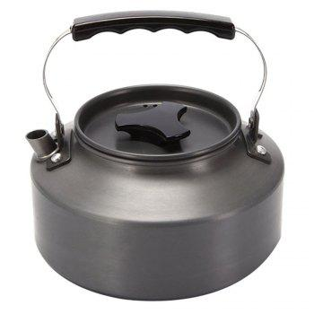 Ultralight Aluminum 1.1L Portable  Coffee Teapot Water Kettle for Outdoor Hiking Camping and Picnic - GRAY GRAY
