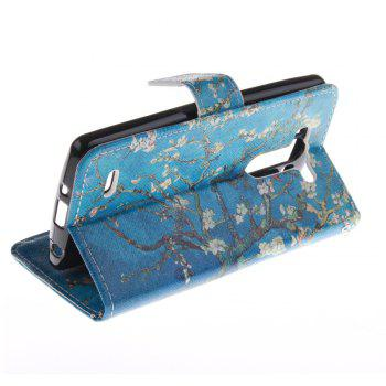 Cover Case For LG G3 Mini Apricot Blossom Tree PU+TPU Leather with Stand and Card Slots Magnetic Closure - BLUE