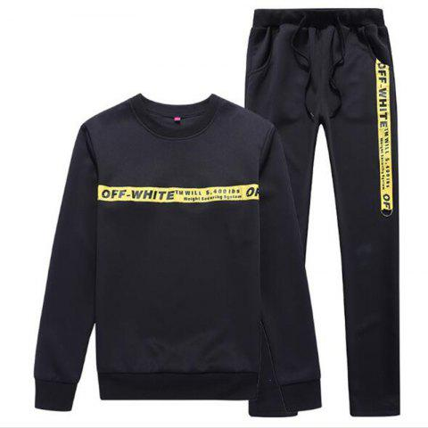 Men's Lovers Wear Sports and Leisure Suits - BLACK L