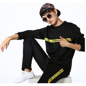 Men's Lovers Wear Sports and Leisure Suits - BLACK BLACK