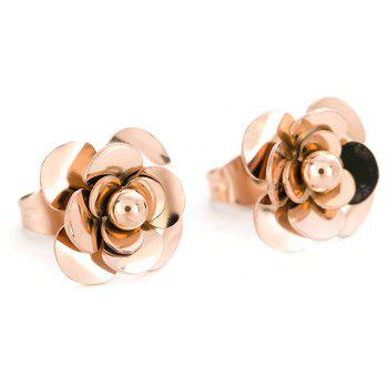 New Fashion Small Sweet Camellia Rose Gold