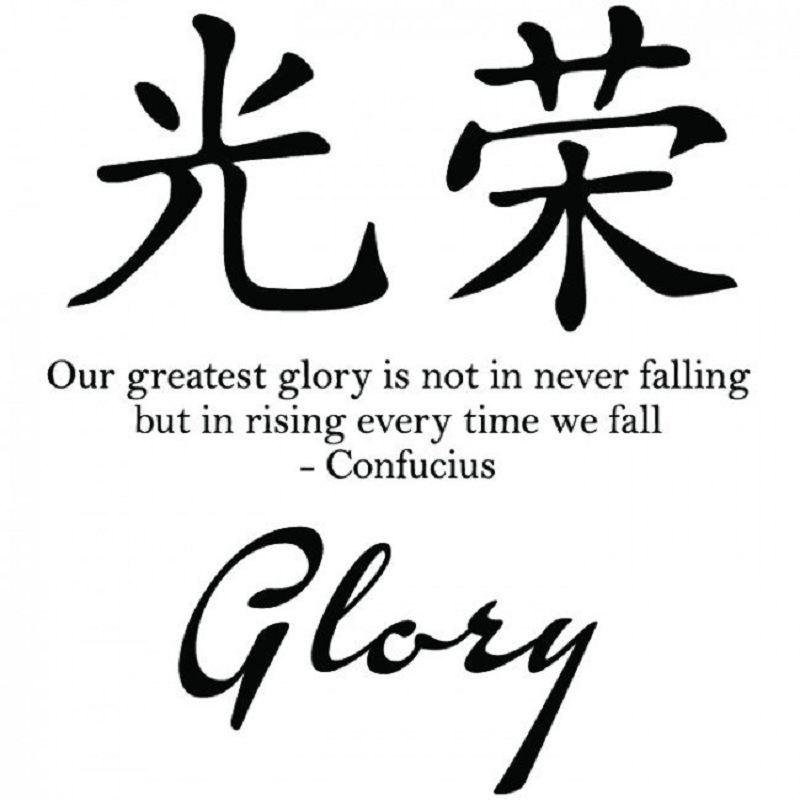 DSU Glory Symbol Confucius Chinese Proverb Wall Stickers Artistic Design Decals removable famous proverb design room office wall stickers