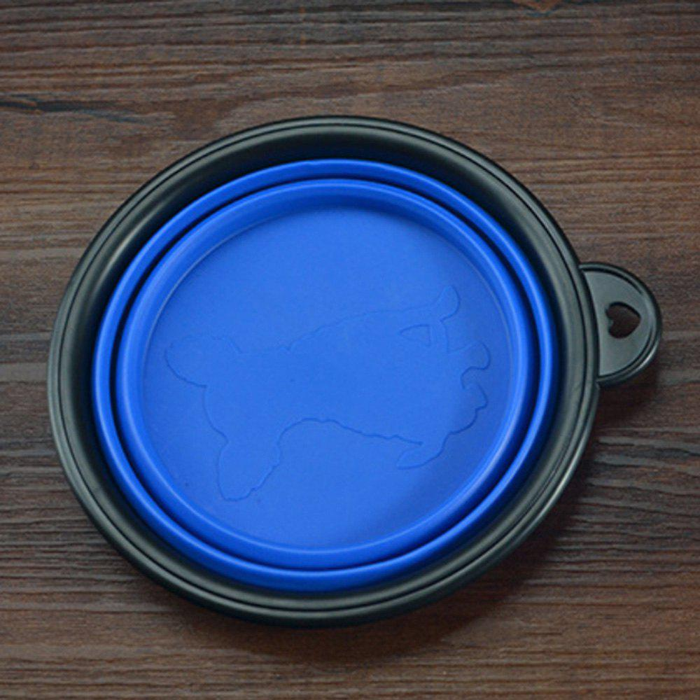 Collapsible Dog Bowl Food Grade Silicone Foldable Pet Bowl for Feeding - BLUE