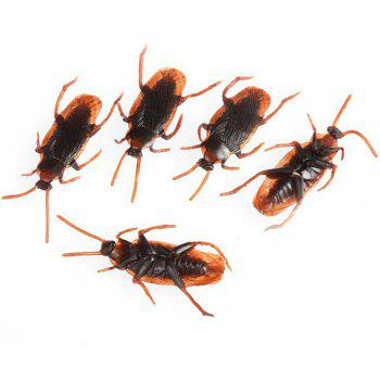 Realistic Simulation Rubber Toys Fake Cockroach Roach Scary Bug for Halloween 100PCS - BLACK
