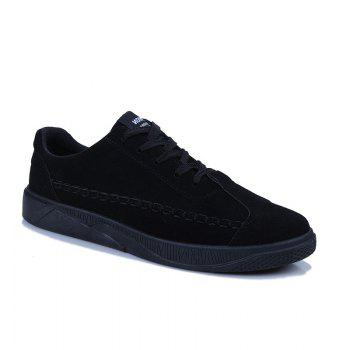 Male Casual Sport Student Shoes - BLACK BLACK