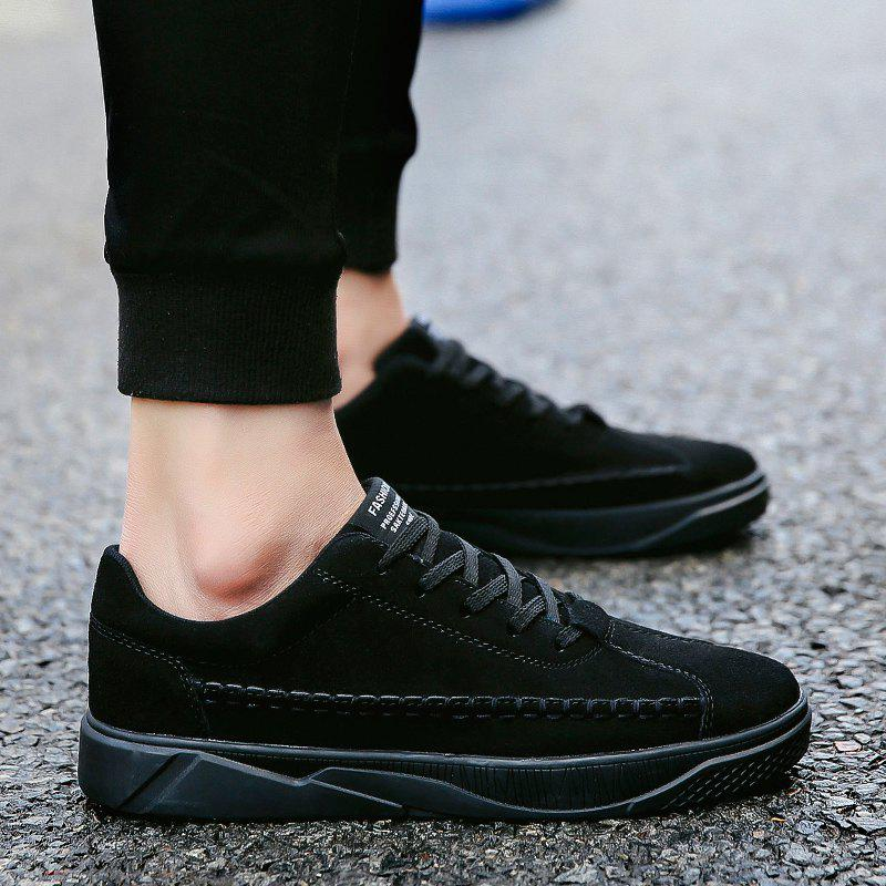 Male Casual Sport Student Shoes - BLACK 40