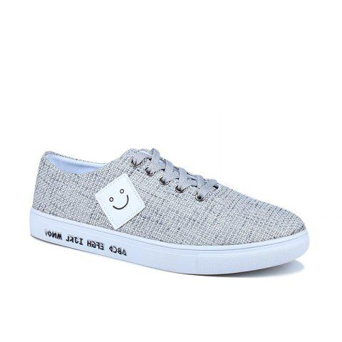 Canvas Cloth Sports Casual Trend Flat Shoes - WHITE 40