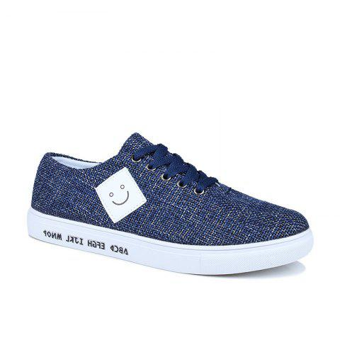 Canvas Cloth Sports Casual Trend Flat Shoes - BLUE 40
