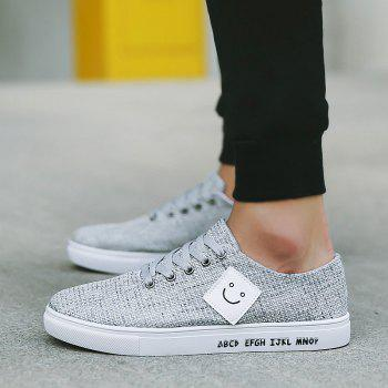 Canvas Cloth Sports Casual Trend Flat Shoes - WHITE WHITE