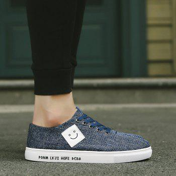 Canvas Cloth Sports Casual Trend Flat Shoes - BLUE BLUE