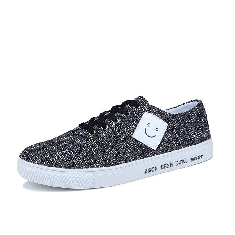 Canvas Cloth Sports Casual Trend Flat Shoes - BLACK 40