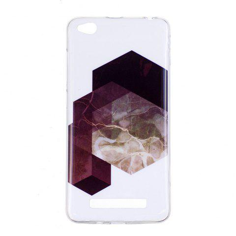 TPU Soft Case for Xiaomi Redmi 4A Geometric Marble Style Back Cover - BLACK