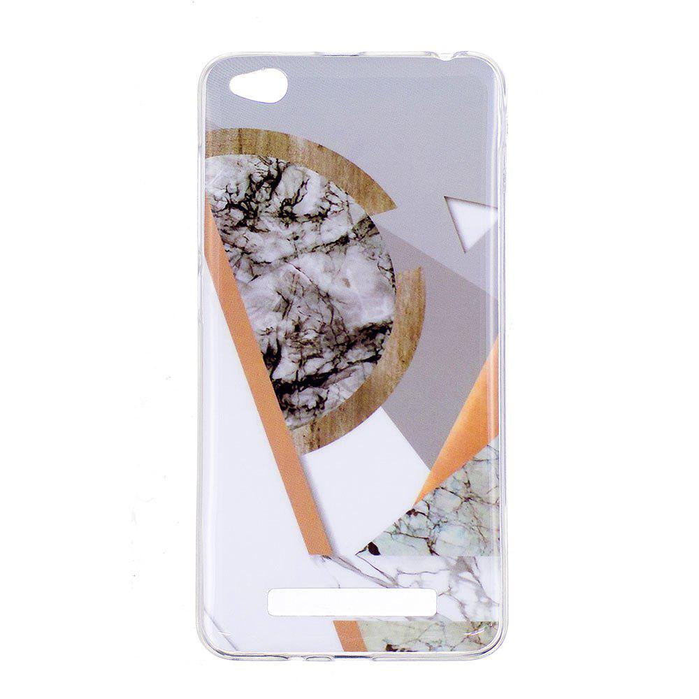 TPU Soft Case for Xiaomi Redmi 4A Joining Marble Style Back Cover - GRAY