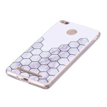 TPU Soft Case for Xiaomi Redmi 3S / 3 Pro Cubic Marble Style Back Cover - GRAY