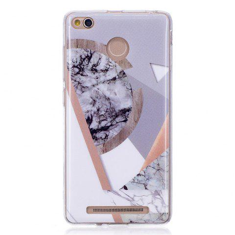 TPU Soft Case for Xiaomi Redmi 3S / 3 Pro Joining Marble Style Back Cover - GRAY
