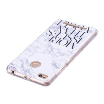 TPU Soft Case for Xiaomi Redmi 3S / 3 Pro Letter Marble Style Back Cover - WHITE