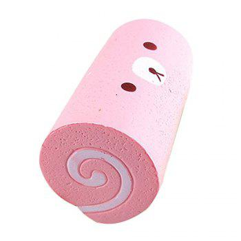 Slow Rising Squishy Swiss Roll Scented Hand Wrist Toy - PINK
