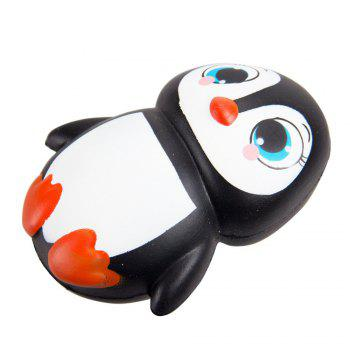 Jumbo Squishy Penguin Kawaii Cute Animal Slow Rising Sweet Scented Vent Charms Kid Toy Doll Gift Fun - BLACK/RED