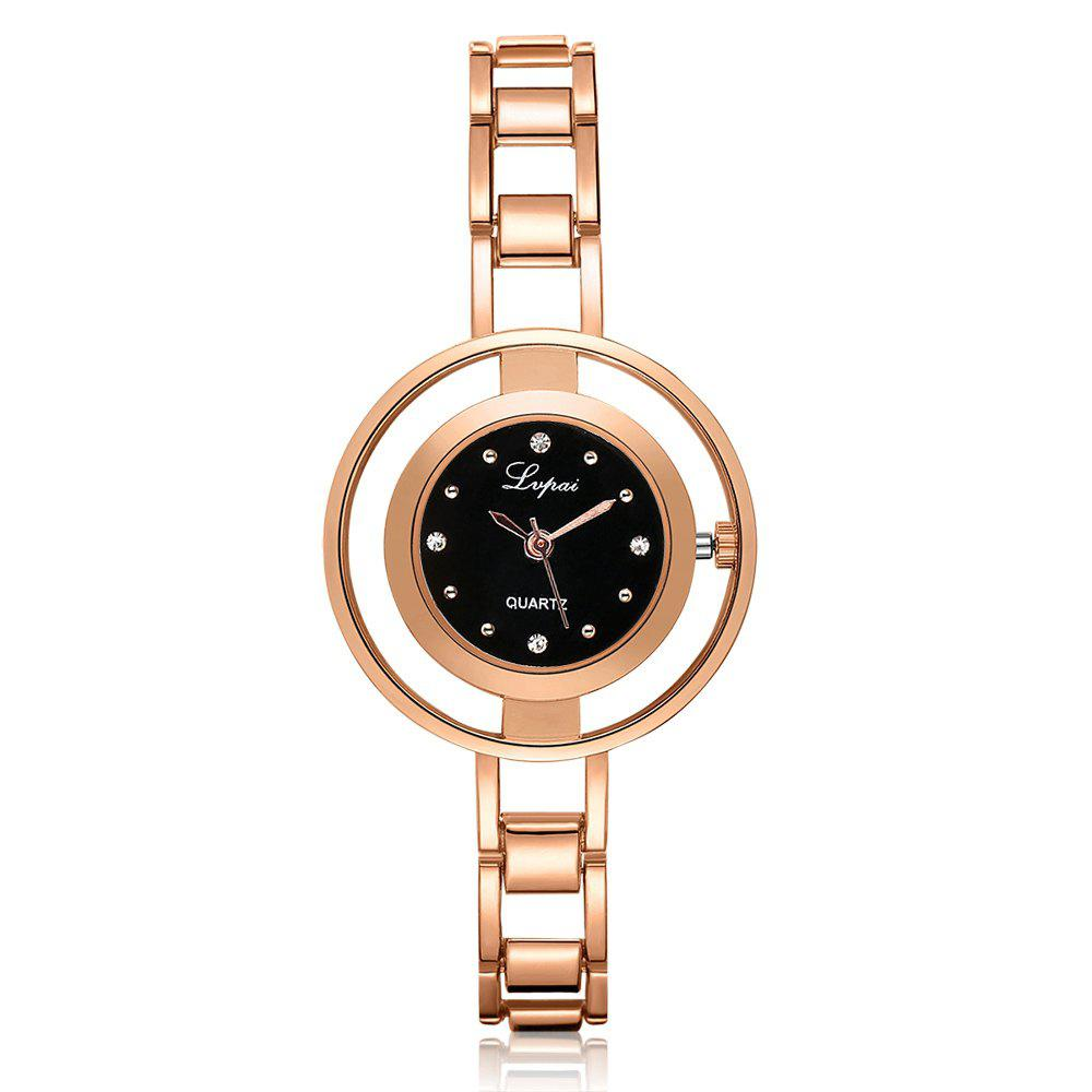 Lvpai P178 Women Fashion Alloy Band Quartz Watches - ROSE GOLD
