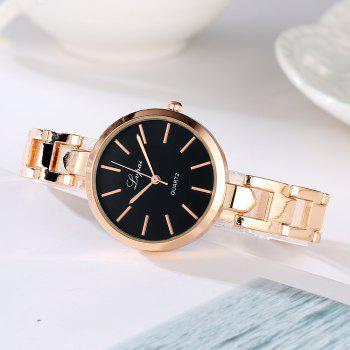Lvpai P179 Women Simple Alloy Band Wrist Watch - ROSE GOLD