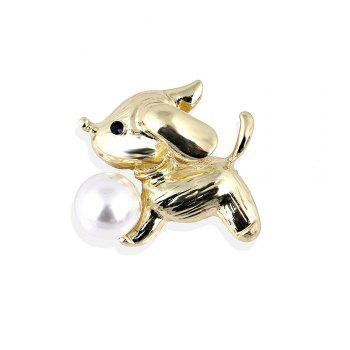 New Arrival Fashion Cute Dog Brooch for Women Men Lovely Pearl Pins Brooches Fresh Water Sweater Suit Scarf Jewelry Cors - GOLDEN GOLDEN