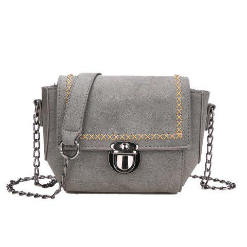Simple Wild Messenger Shoulder Chain Bag - GRAY