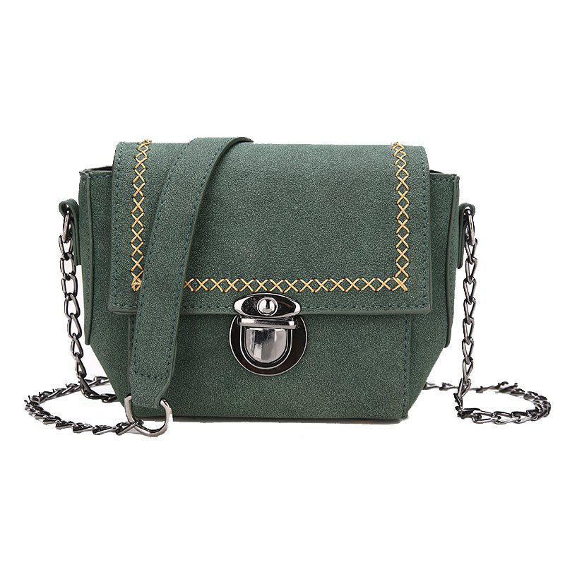 Simple Wild Messenger Shoulder Chain Bag - GREEN