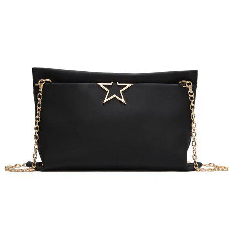 Fashion Stars Wild Chain Messenger Simple Package - BLACK