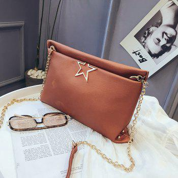Fashion Stars Wild Chain Messenger Simple Package - BROWN