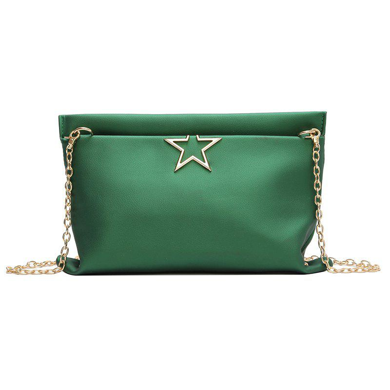 Fashion Stars Wild Chain Messenger Simple Package - GREEN