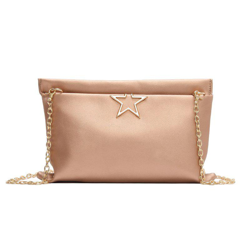 Fashion Stars Wild Chain Messenger Simple Package - PINK