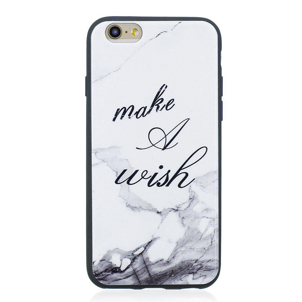 Case For Iphone 6G Painted Cover TPU Phone Protection Shell - WHITE