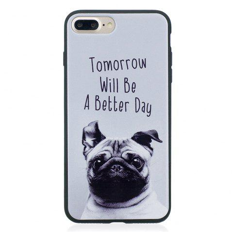 Case For Iphone7 Painted Cover TPU Phone Protection Shell - GRAY