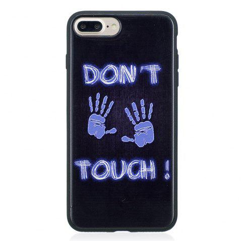 Coque Pour Iphone8 Peint Couverture TPU Phone Protection Shell - Bleu